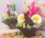 Chocolate Bunny and White Chocolate Eggs
